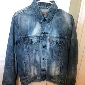 Men's Levi's Denim Jacket. Custom Bleached. Size M